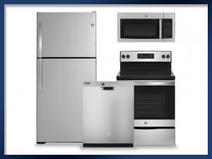 PACKAGE - Stainless Steel   Electric Range   21.9 Cu. Ft. Refrigerator