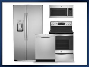 PACKAGE - Stainless Steel   Electric Range   21.8 Cu Ft. Refrigerator