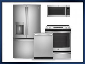 PACKAGE - Stainless Steel   Electric Range   27.7 Cu Ft. Refrigerator